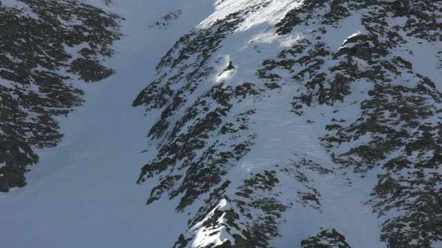 One of the gnarliest falls of the day. Believe it on not he skied away from this.
