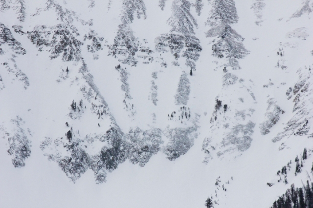 The Toad to Middle Fork in the Freeride Word Qualifier Headwaters venue at Moonlight Basin, Big Sky Montana.