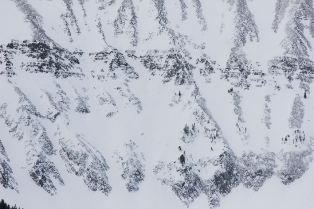 Hells Half Acre to the White Waters in the Freeride Word Qualifier Headwaters venue at Moonlight Basin, Big Sky Montana.