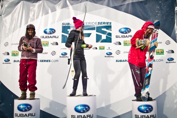 Hammer, Dingle, & DeVore on the Moonlight Basin podium(photo: A.Jimmerson)