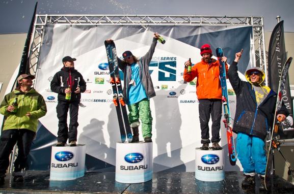 Baskins, Boucher, & Evans take the men's Subaru Freeride Series Stop #1 podium.