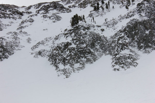 The Toad as seen from below in the Headwaters Bowl.