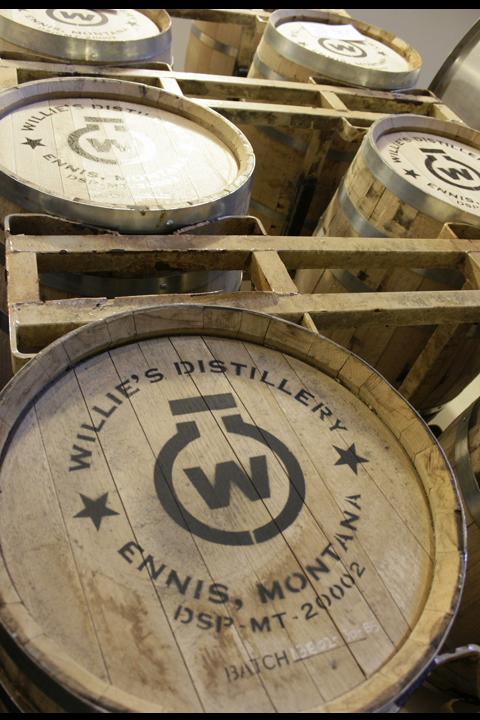 Moonlight Club members whiskey tasting at Willie's Distillery for the 2013 Moonlight Basin Cast & Blast tournament