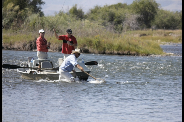 Moonlight Club members fishing the Madison River for the 2013 Moonlight Basin Cast & Blast tournament