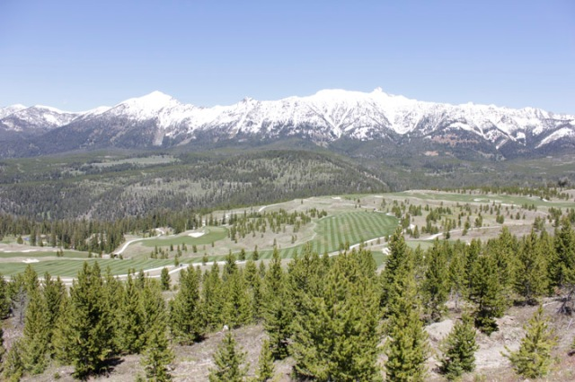 The back 9(seen here below the beautiful Spanish Peaks) is complete and open for play.